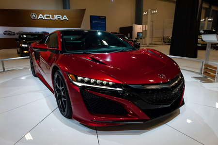 acura: Miami, USA - September 10, 2016: Acura NSX coupe on display during the Miami International Auto Show at the Miami Beach Convention Center. Editorial