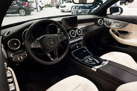 Convention Center: Miami, USA - September 10, 2016: Mercedes C300 cabriolet on display during the Miami International Auto Show at the Miami Beach Convention Center. Editorial