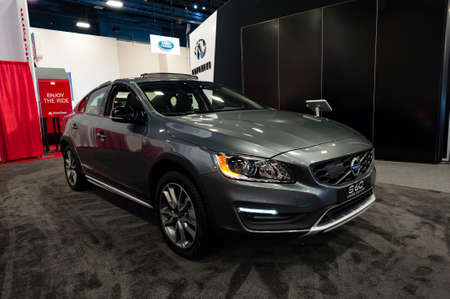 t5: Miami, USA - September 10, 2016: Volvo S60 Cross Country T5 AWD on display during the Miami International Auto Show at the Miami Beach Convention Center.