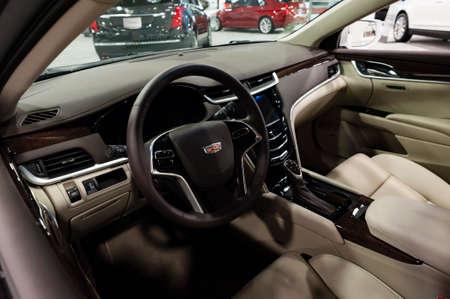 Convention Center: Miami, USA - September 10, 2016: Cadillac XTS sedan on display during the Miami International Auto Show at the Miami Beach Convention Center.