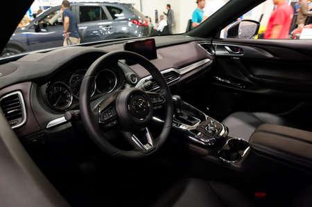 Convention Center: Miami, USA - September 10, 2016: Mazda CX-9 on display during the Miami International Auto Show at the Miami Beach Convention Center.