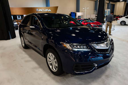 acura: Miami, USA - September 10, 2016: Acura RDX crossover on display during the Miami International Auto Show at the Miami Beach Convention Center.