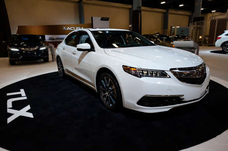 acura: Miami, USA - September 10, 2016: Acura TLX sedan on display during the Miami International Auto Show at the Miami Beach Convention Center. Editorial