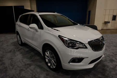 envision: Miami, USA - September 10, 2016: Buick Envision on display during the Miami International Auto Show at the Miami Beach Convention Center. Editorial
