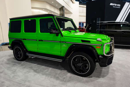 Miami, USA - September 10, 2016: Mercedes G Class SUV on display during the Miami International Auto Show at the Miami Beach Convention Center. Editorial