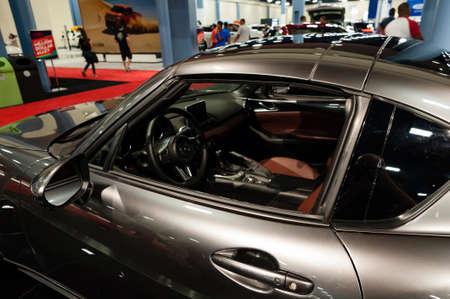 Convention Center: Miami, USA - September 10, 2016: Mazda MX-5 Miata RF on display during the Miami International Auto Show at the Miami Beach Convention Center.