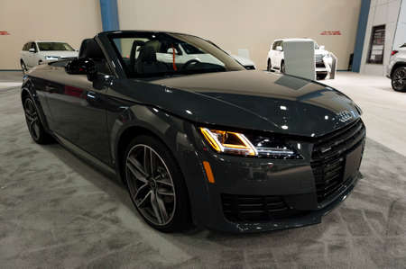 Convention Center: Miami, USA - September 10, 2016: Audi TT Roadster on display during the Miami International Auto Show at the Miami Beach Convention Center. Editorial