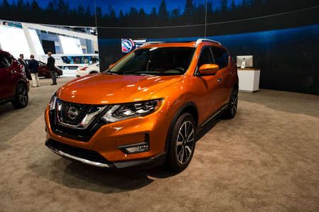 rogue: Miami, USA - September 10, 2016: Nissan Rogue on display during the Miami International Auto Show at the Miami Beach Convention Center. Editorial