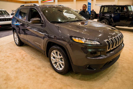 Miami, USA - September 10, 2016: Jeep Cherokee on display during the Miami International Auto Show at the Miami Beach Convention Center.