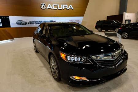 acura: Miami, USA - September 10, 2016: Acura RLX Advance sedan on display during the Miami International Auto Show at the Miami Beach Convention Center.