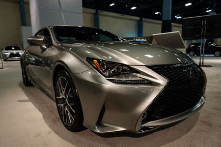 Convention Center: Miami, USA - September 10, 2016: Lexus RC 350 F Sport coupe on display during the Miami International Auto Show at the Miami Beach Convention Center. Editorial