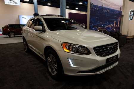 t5: Miami, USA - September 10, 2016: Volvo XC60 T5 FWD SUV on display during the Miami International Auto Show at the Miami Beach Convention Center. Editorial
