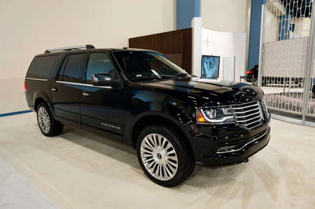 Miami, USA - September 10, 2016: Lincoln Navigator SUV on display during the Miami International Auto Show at the Miami Beach Convention Center. Editorial