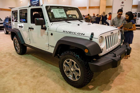 Convention Center: Miami, USA - September 10, 2016: Jeep Wrangler on display during the Miami International Auto Show at the Miami Beach Convention Center.