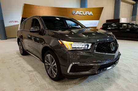 acura: Miami, USA - September 10, 2016: Acura MDX on display during the Miami International Auto Show at the Miami Beach Convention Center. Editorial
