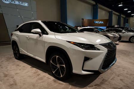 Convention Center: Miami, USA - September 10, 2016: Lexus RX 450h SUV on display during the Miami International Auto Show at the Miami Beach Convention Center. Editorial