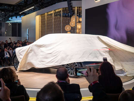 New York, US - March 28, 2018: Lincoln Aviator debut during the 2018 New York International Auto Show held at the Jacob K. Javits Convention Center.