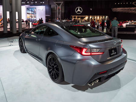 New York, US - March 28, 2018: Lexus RC F 10th Anniversary on display during the 2018 New York International Auto Show held at the Jacob K. Javits Convention Center. Redakční