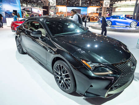 New York, US - March 28, 2018: Lexus RC on display during the 2018 New York International Auto Show held at the Jacob K. Javits Convention Center. Redakční