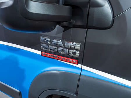 New York, US - March 28, 2018: Ram 2500 Promaster on display during the 2018 New York International Auto Show held at the Jacob K. Javits Convention Center.