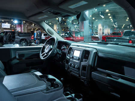 New York, US - March 28, 2018: Ram 5500 chassis cab on display during the 2018 New York International Auto Show held at the Jacob K. Javits Convention Center. Editorial