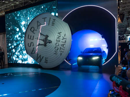 New York, US - March 28, 2018: Maserati Levante Trofeo debut during the 2018 New York International Auto Show held at the Jacob K. Javits Convention Center.