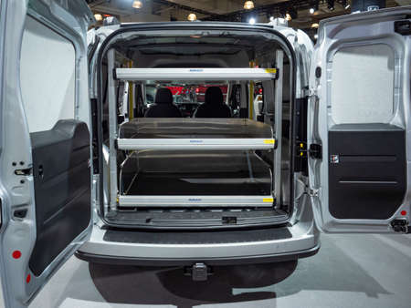 New York, US - March 28, 2018: Ram Promaster City on display during the 2018 New York International Auto Show held at the Jacob K. Javits Convention Center.