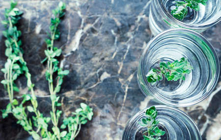 thyme: Refreshing drink with thyme.