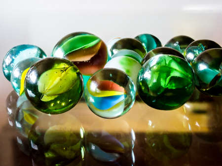 Glass marbles. Child's play.