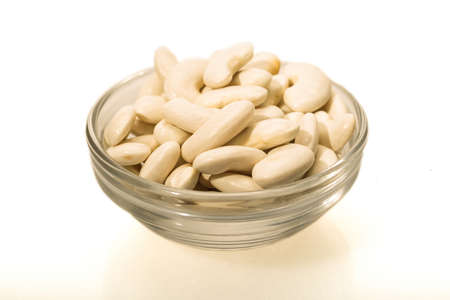 White beans of the Mongeta variety of the Ganxet, their cultivation is carried out in Catalunya, Spain.