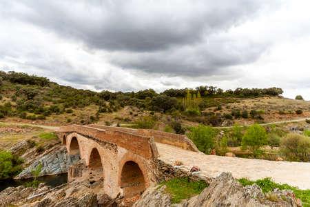 Landscape in the Montes de Toledo, next to the Cabañeros Natural Park, Castilla La Mancha, Spain.