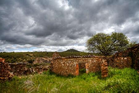 Landscape in the Montes de Toledo, next to the Cabañeros Natural Park, Castilla La Mancha, Spain. Stock Photo