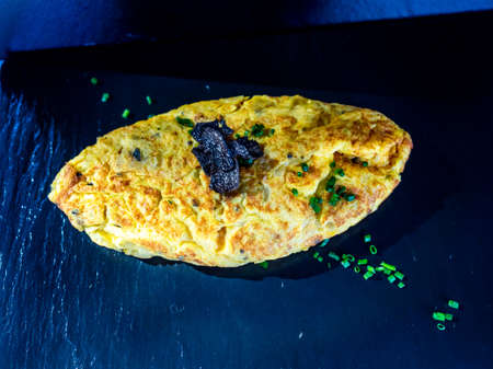 French omelet with truffle