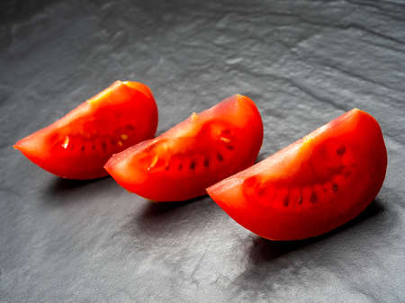 Fresh red tomatoes, a vegetable widely used in the Mediterranean diet.