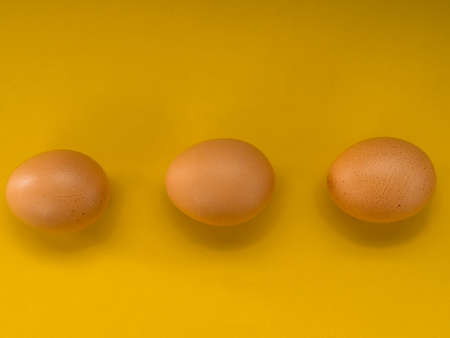 Eggs on a yellow background