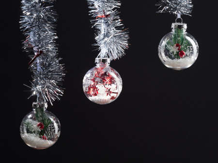 Christmas composition. Gifts, Christmas decorations, winter, new year concept and Christmas. Copy space Stockfoto