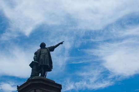 Reisen: Christopher Columbus statue, Parque, Santo Domingo, Dominican Republic, Carribean