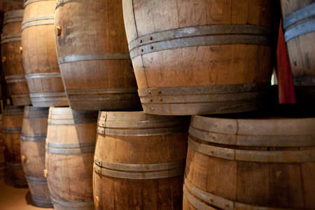 Barrels of South African wine in a wine cellar Stock Photo - 13012394