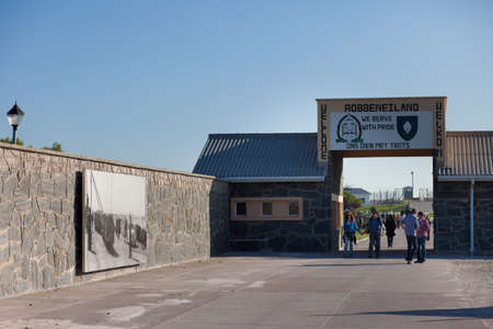 robben island: The entrance to Robben Island Prison, South Africa