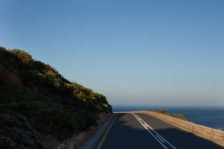 Curving road near the sea, Cape Town, South Africa Stock Photo - 13334155
