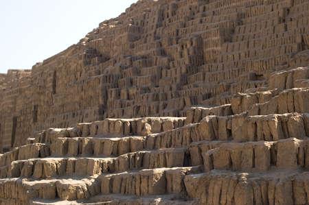 Steps of the adobe pyramid at Huaca Pucllana Stock Photo - 15815219