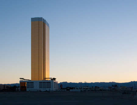 Newly built skyscraper on the Las Vegas Strip photo