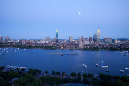 Boston's Back Bay and Cambridge on the Charles River Stock Photo - 15875930