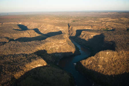 Aerial view of Batoka Gorge on the Zambezi River photo