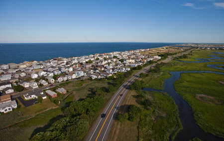 Aerial view of the Massachusetts coast near Kittery Point photo