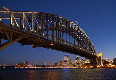 steel bridge: The Sydney Harbor Bridge and Sydney Opera House