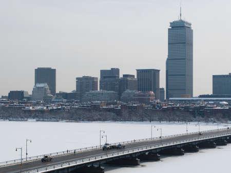 ave: Boston Back Bay Charles River and Mass Ave Bridge