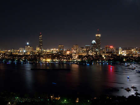 Boston's Back Bay and Cambridge on the Charles River photo