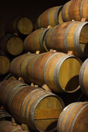 Barrels of South African in the Stellenbosch region Stock Photo