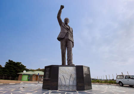 apartheid in south africa: Nelson Mandela Statue outside Victor-Verster Prison